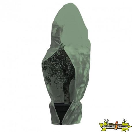 Nature - Housse d\'hivernage à cordelette de serrage - Vert - H 300 x 393 cm  - Diamétre 250 cm