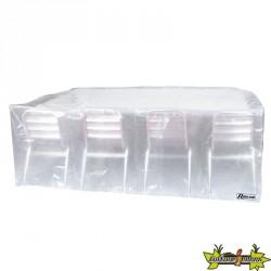 Ribiland - Housse translucide pour table rectangulaire + chaises 90g/m² - 250x150x80cm