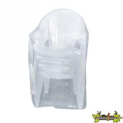 Ribiland - Housse translucide pour chaises avec accoudoirs 90g/m² - 90x70x115cm