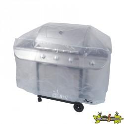 Ribiland - Housse translucide pour barbecue rectangulaire 90g/m² -130x70x80cm