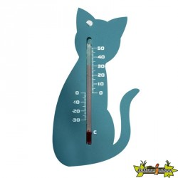 6080095 THERMOMETRE MURAL EXT PLASTIQUE GRIS CHAT H15CM