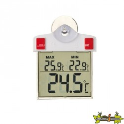 Nature - Thermométre mini-max digital ventouse H 17cm