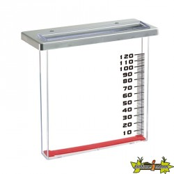 Nature - Pluviométre rectangle en PVC pour balcon H20cm
