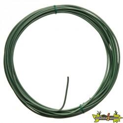 Nature - Câble fil de fer galvanisé plastifié vert - Diamétre de 3 mm x longeur 10 m