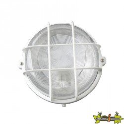 141008 HUBLOT ROND 100W À VIS IP44 CLASS 2 + GRILLE DE PROTECTION