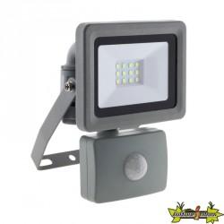 499912 PROJECTEUR 24 LED 10W DETECTEUR GRIS