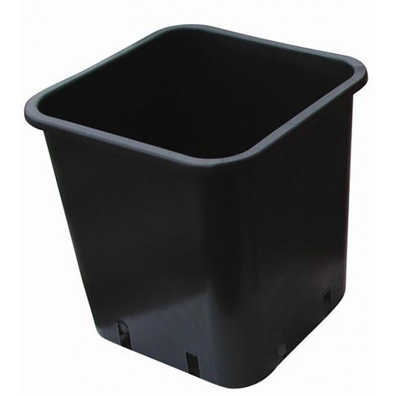 Nuova Pasquini - Pot carré noir 28.5 x 28.5 x 28.4 14L