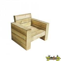 Bois de Pologne - Fauteuil en bois 88x75xh42/82cm