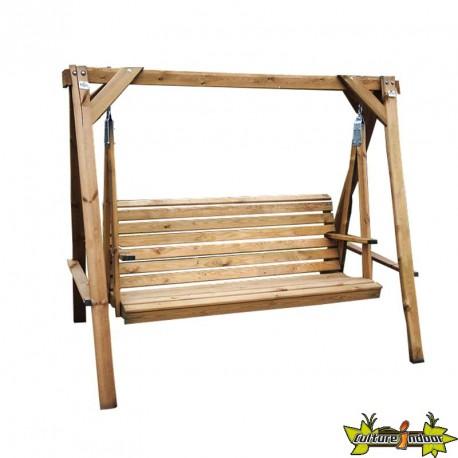 VG garden – Balancelle en bois 210x140x170cm