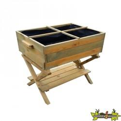 VG garden – Potager en bois sur pieds à hauteur réglable 80x60x80/100cm
