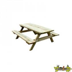 Bois de Pologne - Table de pique-nique 150x131x70,5 section 25x73