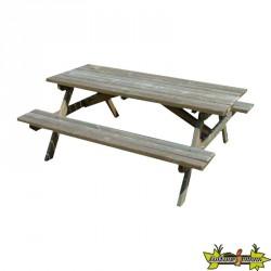 Bois de Pologne - Table de pique-nique 180x150x70cm - sections 40x80cm