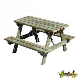 Bois de Pologne - Table de pique-nique enfant 90x90x56cm - section 25x73cm