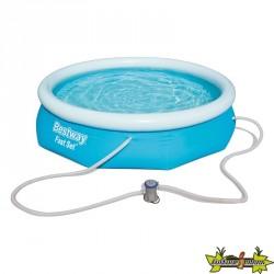 Bestway - Piscine ronde Fast Set Pools + filtre à cartouche - Ø 274 cm - H 76 cm