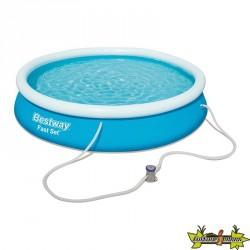 Bestway - Piscine ronde Fast Set Pools + filtre à cartouche - Ø 366 cm - H 76 cm Catalogue Produits
