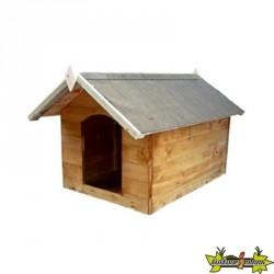 VG garden - Niche pour chien S en bois avec toi ouvrable - 60x75x68cm