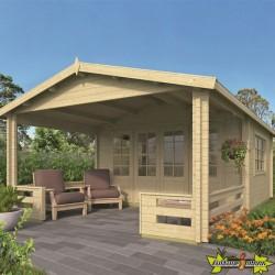 Tuindeco - Chalet bois massif 27m² - 58mm - Qualité résidentielle - Watford