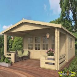 Tuindeco - Chalet bois massif 21.8m² - 58mm - Qualité résidentielle - Nottingham