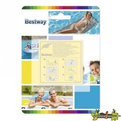 Bestway - Kit réparation liner de piscine - 10 super-patchs