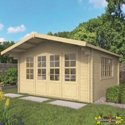 Tuindeco - Chalet bois massif 13,4m² - 58mm - Qualité résidentielle - Blackpool