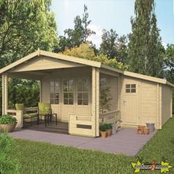 Tuindeco - Chalet bois massif 13,4m² - 58mm - Qualité résidentielle - Coventry
