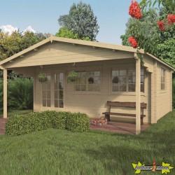 Tuindeco - Chalet bois massif 20,7 m² - 58mm - Qualité résidentielle -Torsten