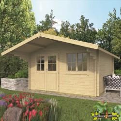 Tuindeco - Chalet bois massif 13,5m² - 58mm - Qualité résidentielle - Stian