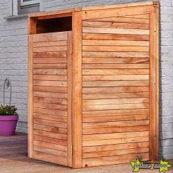 Tuindeco - Conteneur d'entreposage en bois dur - Simple