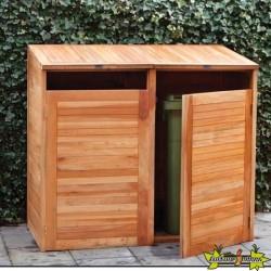 Tuindeco - Conteneur d'entreposage en bois dur - Double