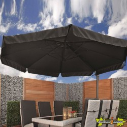 Tuindeco - Parasol le havre anthracite 360°
