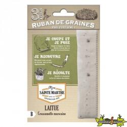 La ferme Sainte Marthe - Ruban de 200 graines Laitue Cressonette Marocaine