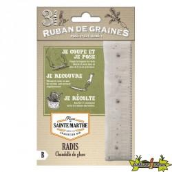 La ferme Sainte Marthe - Ruban de 150 graines Radis Chandelle de glace