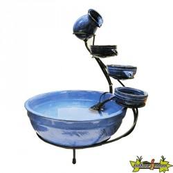 Ubbink - Fontaine de terrasse céramique bleue - 60 cm