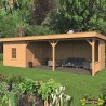 Tuindeco - Bâtiment modulaire pour jardin Oslo XL type 8 - Paroi naturel