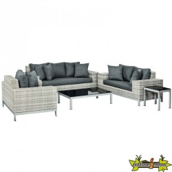 ENSEMBLE LOUNGE GREENWOOD WICKER GRIS