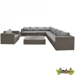 ENSEMBLE LOUNGE DAYTONA WICKER MARRON FONCE