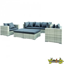 ENSEMBLE LOUNGE GLENDALE WICKER GRIS