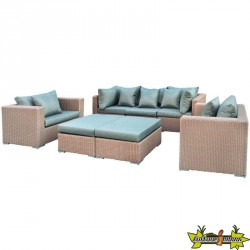ENSEMBLE LOUNGE LONG BEACH WICKER MARRON CLAIR