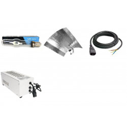 KIT Eclairage Magnetic 400W Superplant MH - 10 - Ballast+Ampoule+Reflecteur