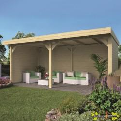 Tuindeco - Abri ouvert bois massif - 30 m² - 28 mm - Alfsu