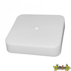 Platinium - Bouchon sans trou PVC blanc 100x100mm