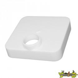 Platinium - Bouchon avec trou PVC blanc 100x100mm