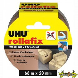 UHU - Rollafix Emballage Marron - 66 m x 50 mm