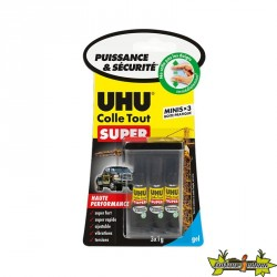 UHU - Colle Tout Super Minis - Gel - 3 x 1 g