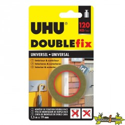 44855 UHU DOUBLEFIX EXTRA FORT INTERIEUR BLANC 1.50M X 19MM