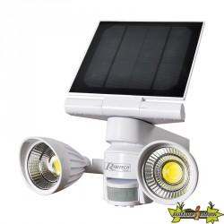 SPOT SOLAIRE 2X5 W LED, 800 LUMENS AVEC DETECTEUR