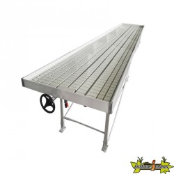 Platinium Hydroponics - Table de culture Rolling Bench - Tray à coller - 1.22 x 4.88 m