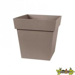 EDA - Pot carré Toscane - Taupe - 87 L - 50 cm