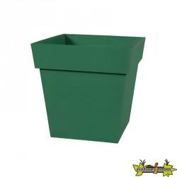 EDA - Pot carré Toscane - Vert jungle - 87 L - 50 cm