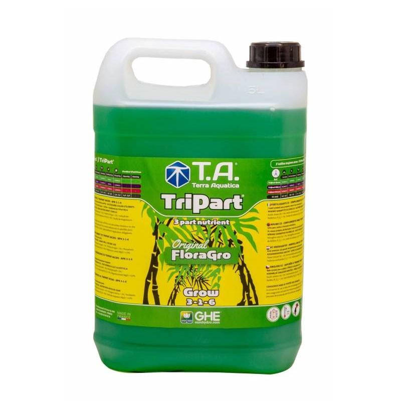 GHE - Engrais Tripart Grow 5L (Floragro)